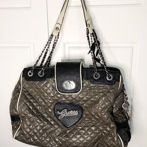 Guess tote bag with chain shoulder strap